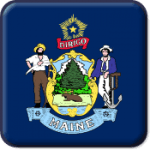 Maine State Flag Icon