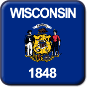 Wisconsin State Flag Icon