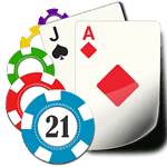 Blackjack cards and chips