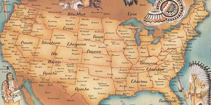 Native American Indian Tribes US Map
