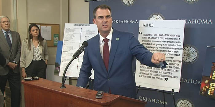 oklahoma governor kevin stitt tribal casino gambling
