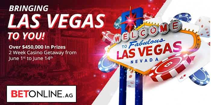 Welcome To Las Vegas Sign With BetOnline Bring Vegas To You Promotion Details