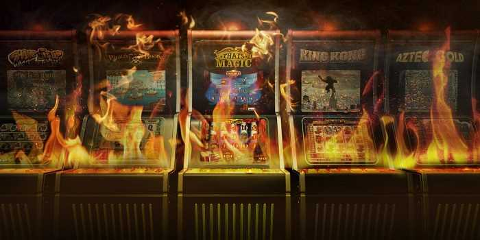 slot machines on fire