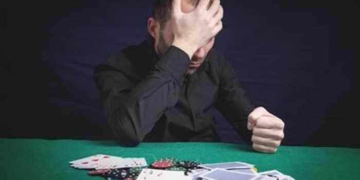 sad poker player
